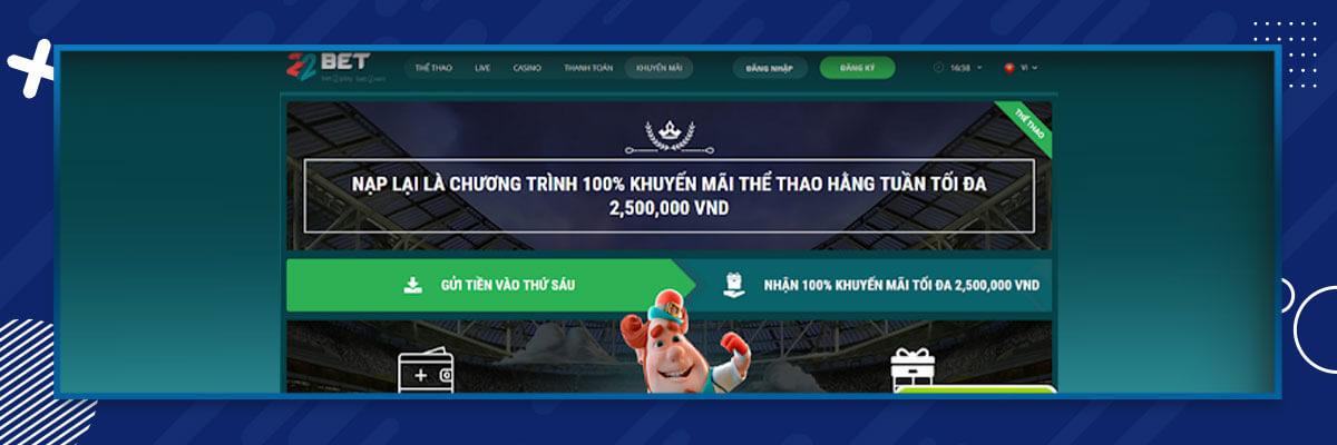 22Bet Vietnam bonus