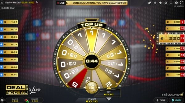 deal or no deal top up